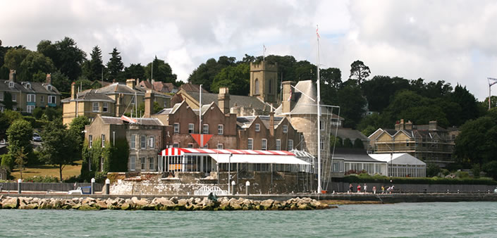 Photograph of the Royal Yacht Squadron, Cowes