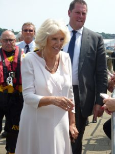 Photograph of the Duchess of Cornwall visiting Cowes