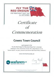 Picture of Merchant Navy Day Certificate of Commemoration