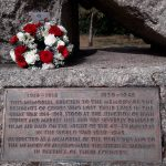 Photograph shows WW1 plaque on Cowes War Memorial