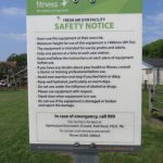 Photograph of mobile gym equipment - Safety Notice