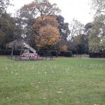 Photograph shows Cowes War Memorial in Northwood Park, Cowes