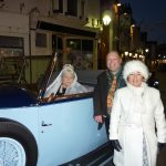 Photograph shows the Mayor of Cowes, Councillor Fuller and a Queen Victoria impersonator
