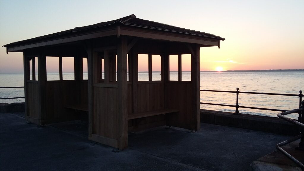 Photo of seafront shelter - for decorative purposes